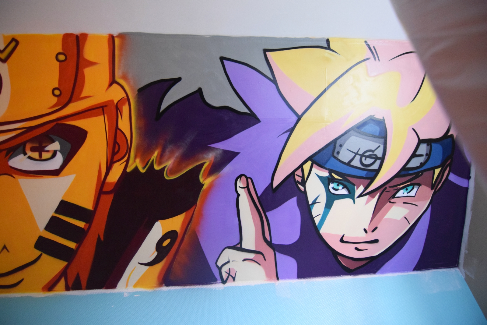 Décoration manga à Courcelles les Lens - Association Red Bricks