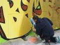 Graffiti Tag marché aux fleurs Lens 2014