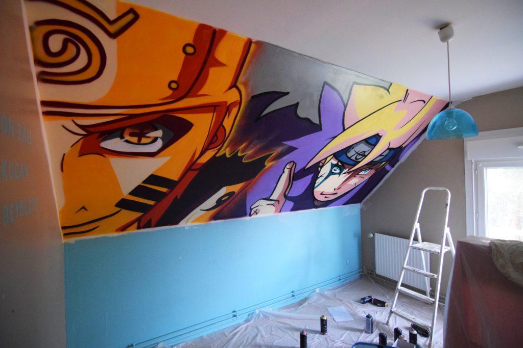Graffiti Déco de manga à Courcelles-Les-Lens