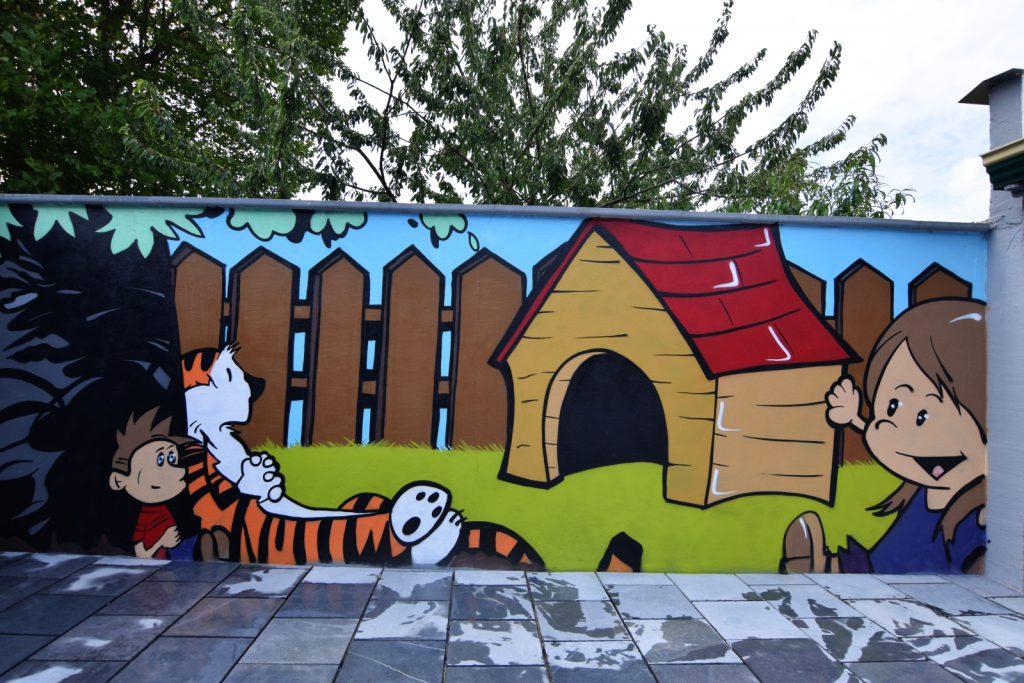 Décoration graff jardin enfant à Fouquières les Lens