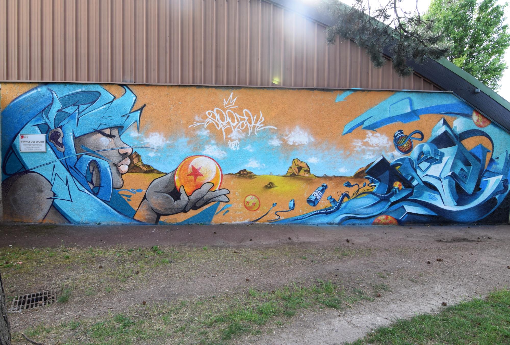 Graffeurs du stade Léo Lagrange à Lens
