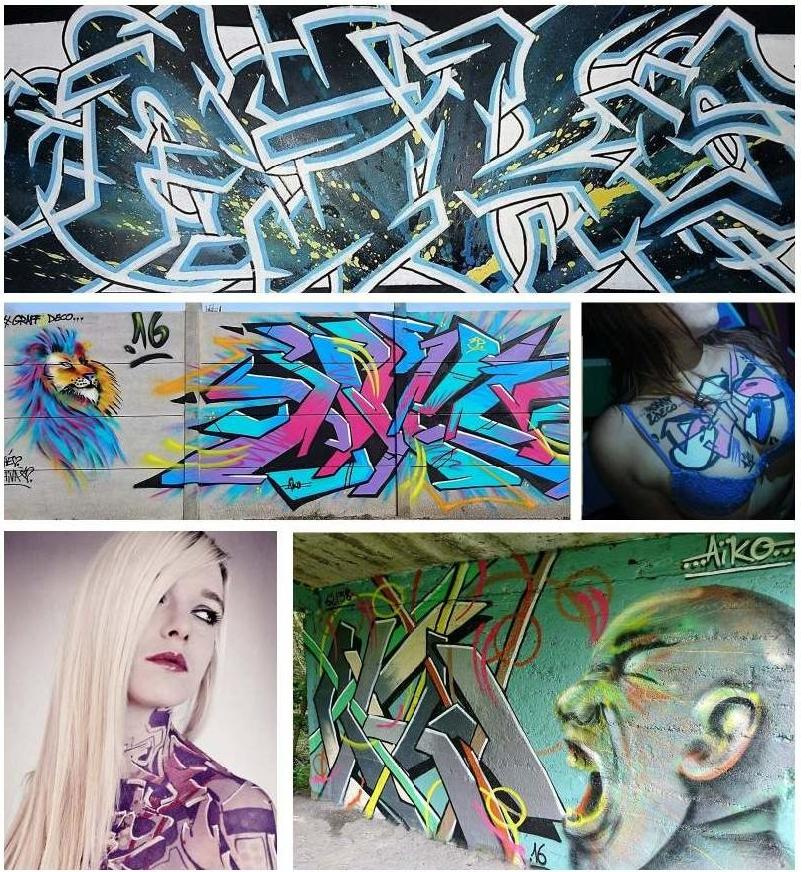 Graffeurs à Lens - Aiko