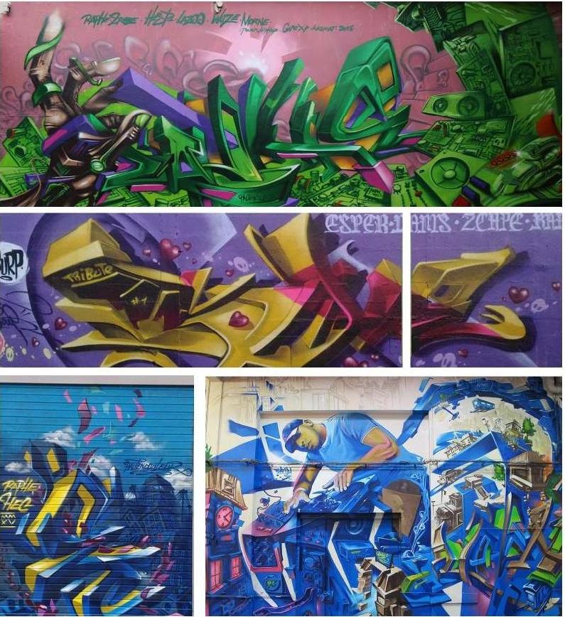 Les graffeurs Raph et Esper ont posé ensemble à Lens.