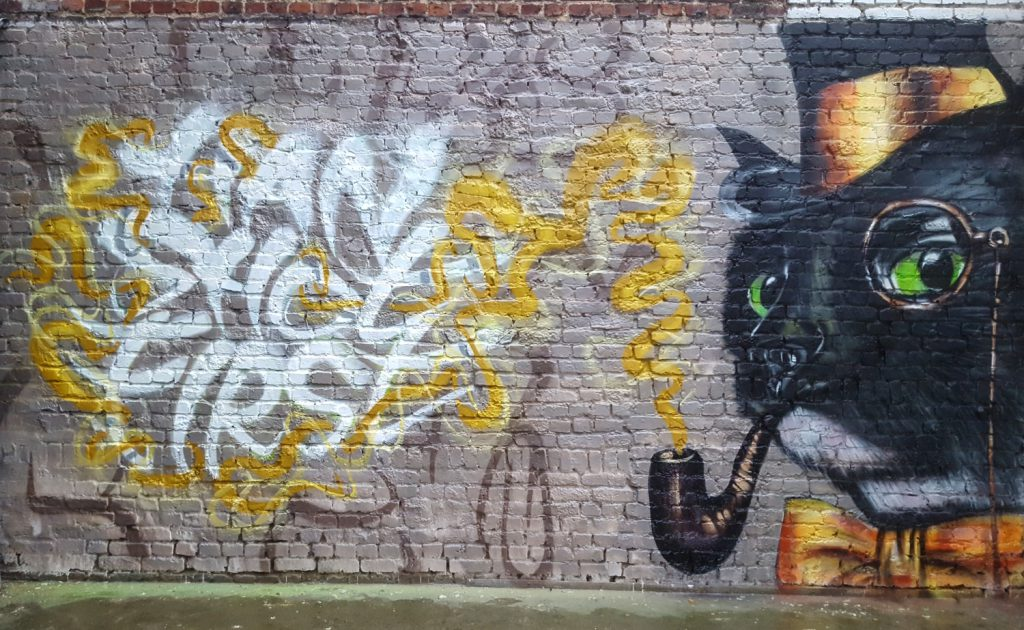 Chat en Street Art