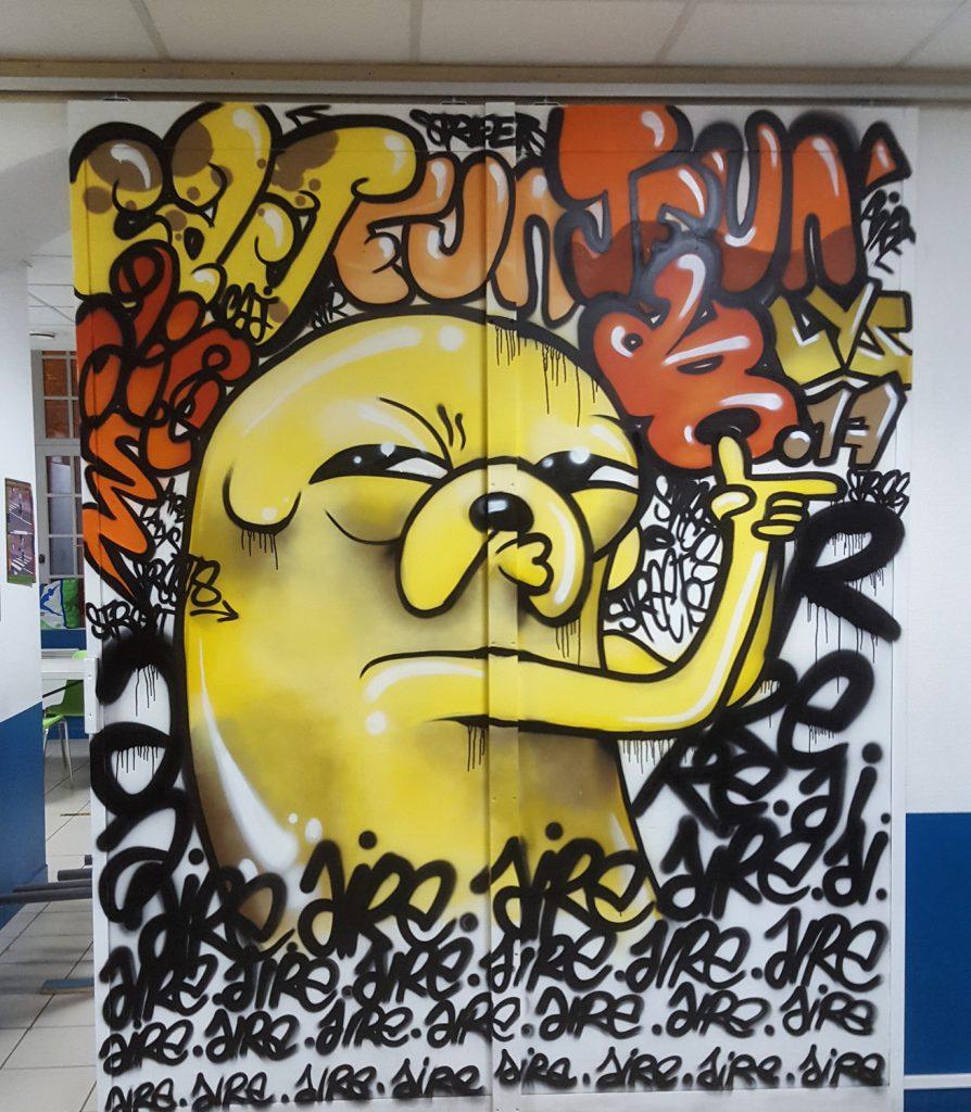 Initiation graffiti à Aire sur la Lys