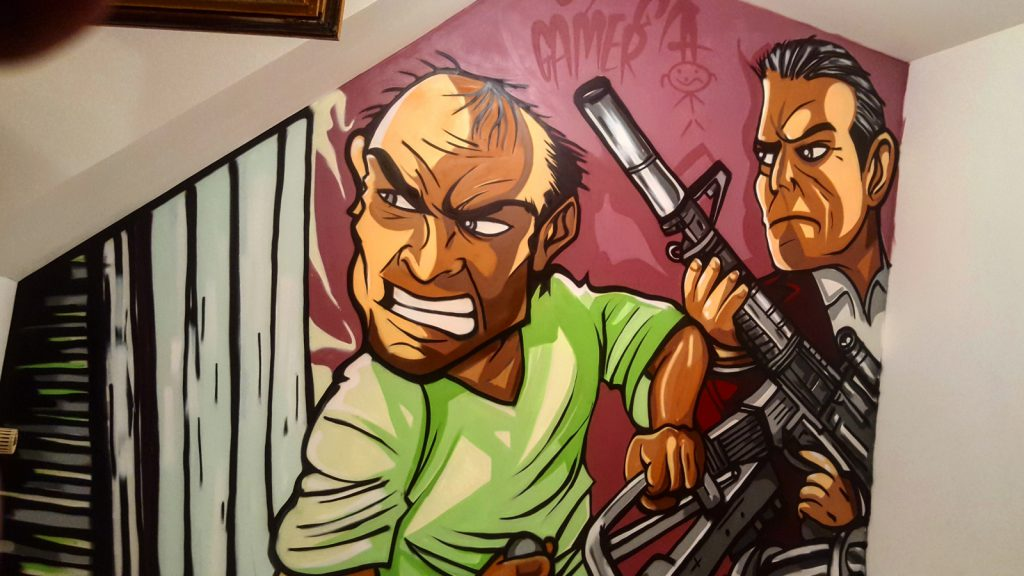 Graffiti chambre trevor