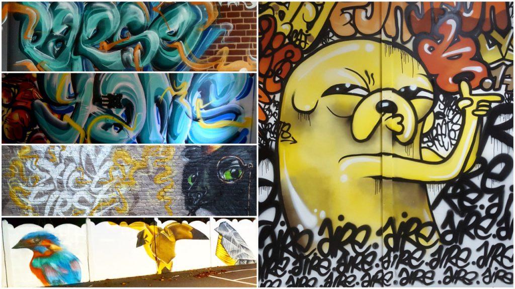 Des graffitis à Lille et ses environs avec notre association