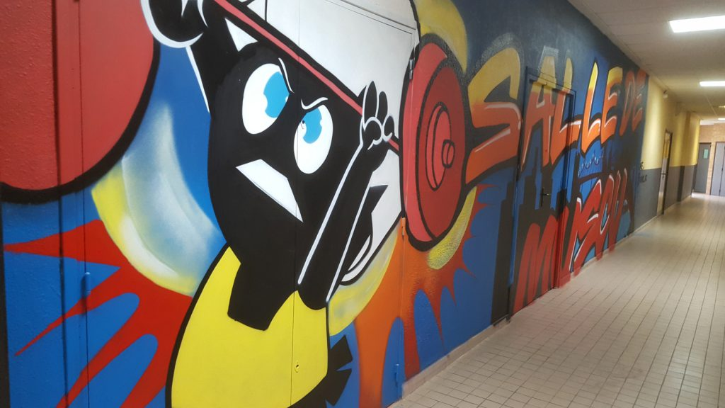 Fresque graff lycée Robespierre de Lens