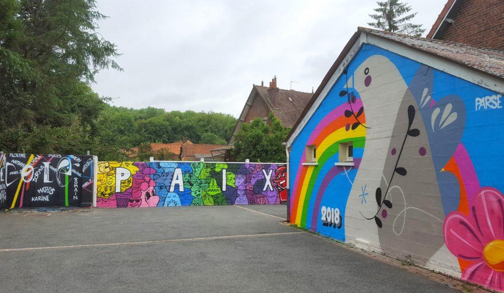 Fresque de notre street artiste Parse