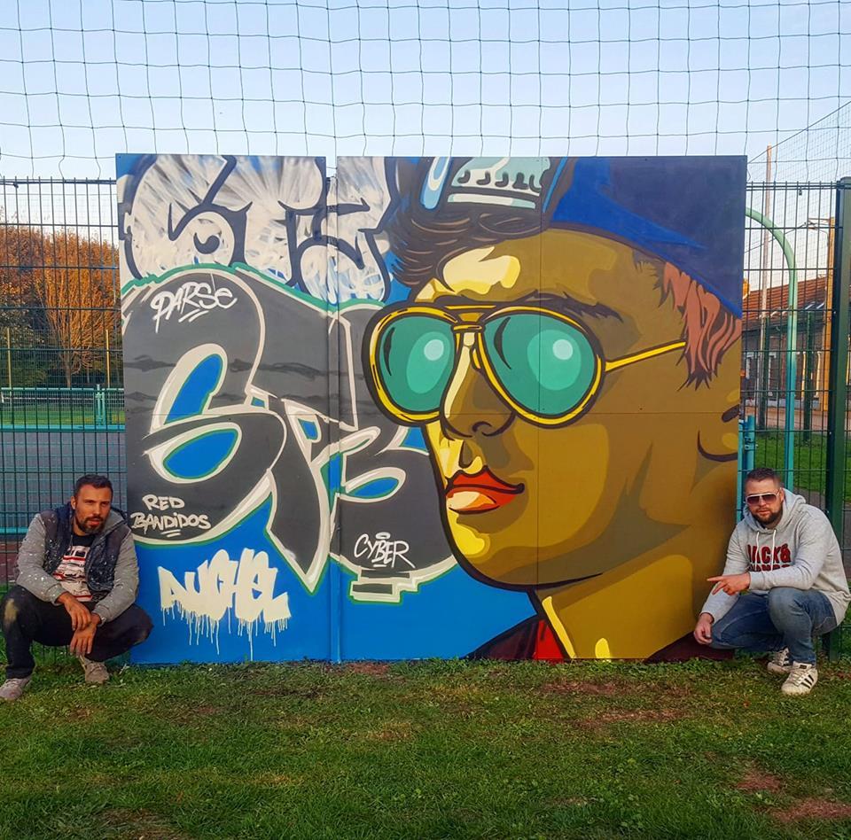 Graffiti à auchel cité 3