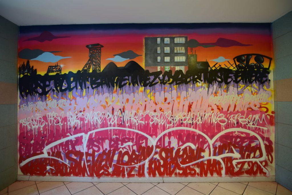 Graffiti à Sallaumines