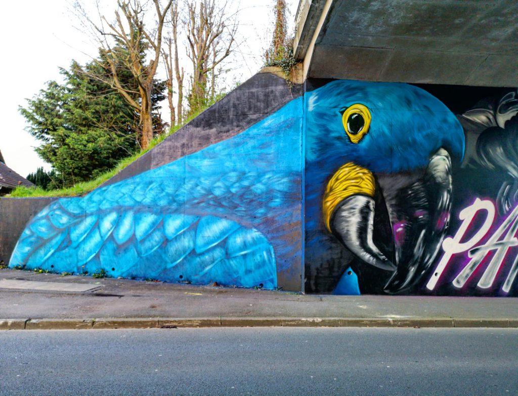 Fresque parasite graffiti Liévin