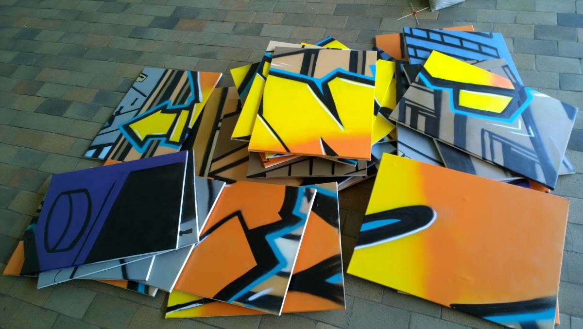 Graffiti Mobile au CAJ de Mazingarbe