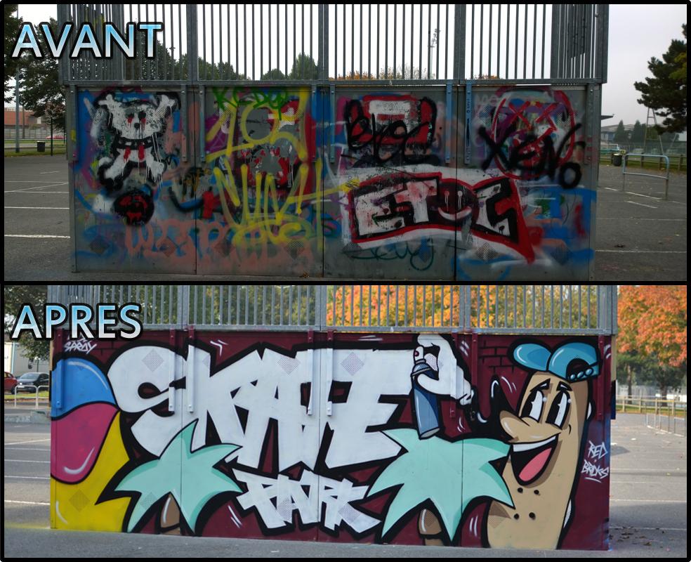 Des graffs pour le skatepark de Lens