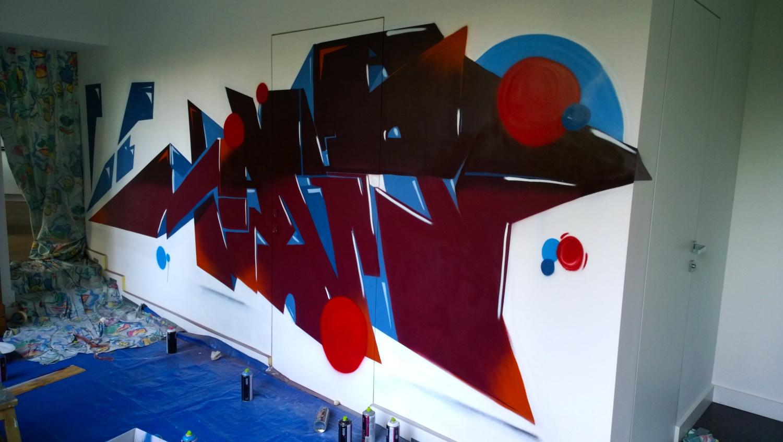 Décoration Graffiti d'un Loft à Liévin