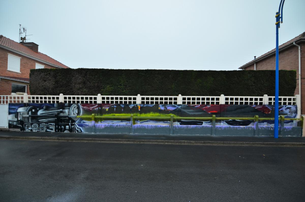 Décoration de palissades à Noyelles les vermelle