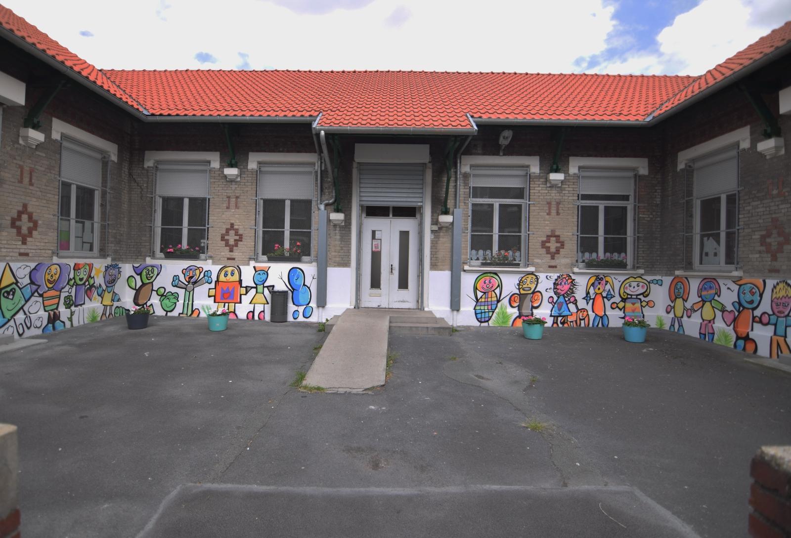 Street-art dans une école maternelle
