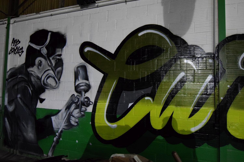 Graffiti en intérieur