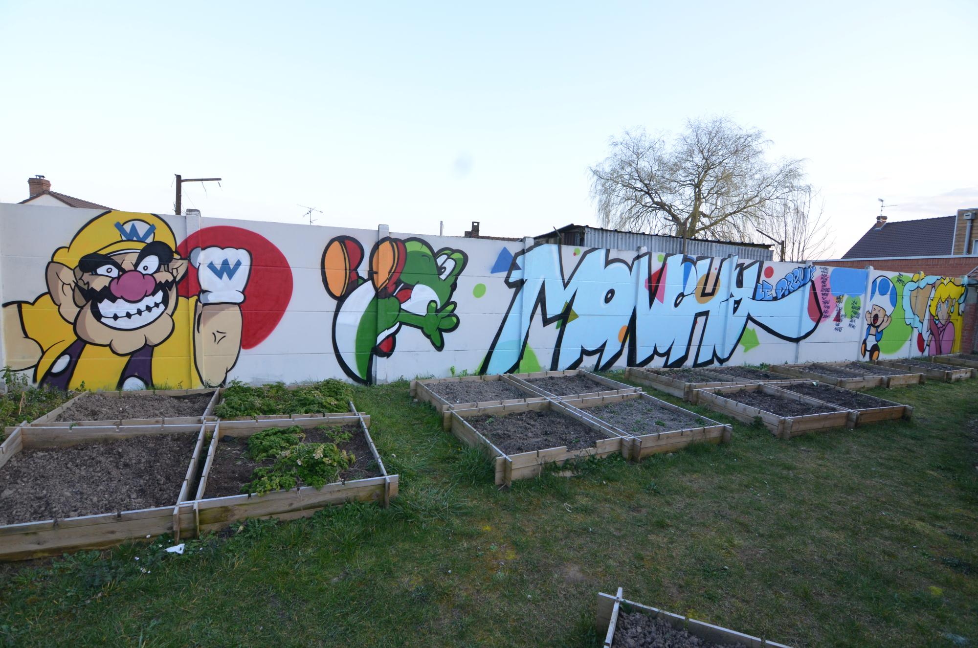 Graffiti avec des enfants