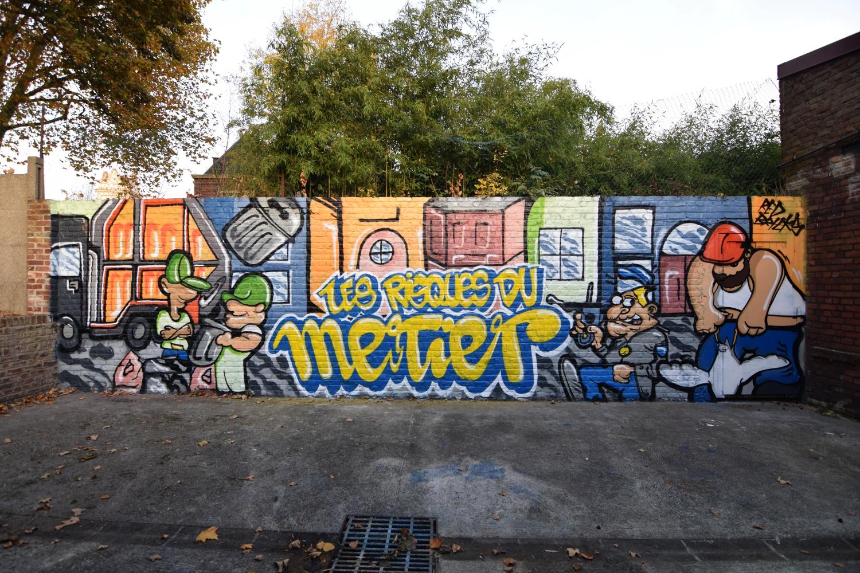 Graff avec des jeunes