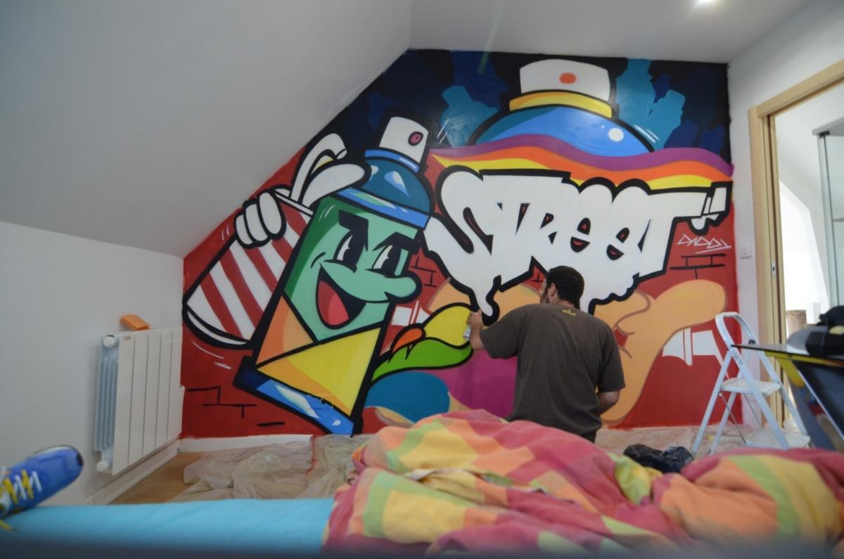 Graffiti dans une chambre à Arras