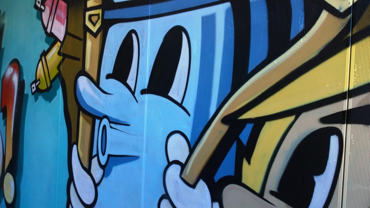 Un graffiti au collège Jean Jaurès de Lens