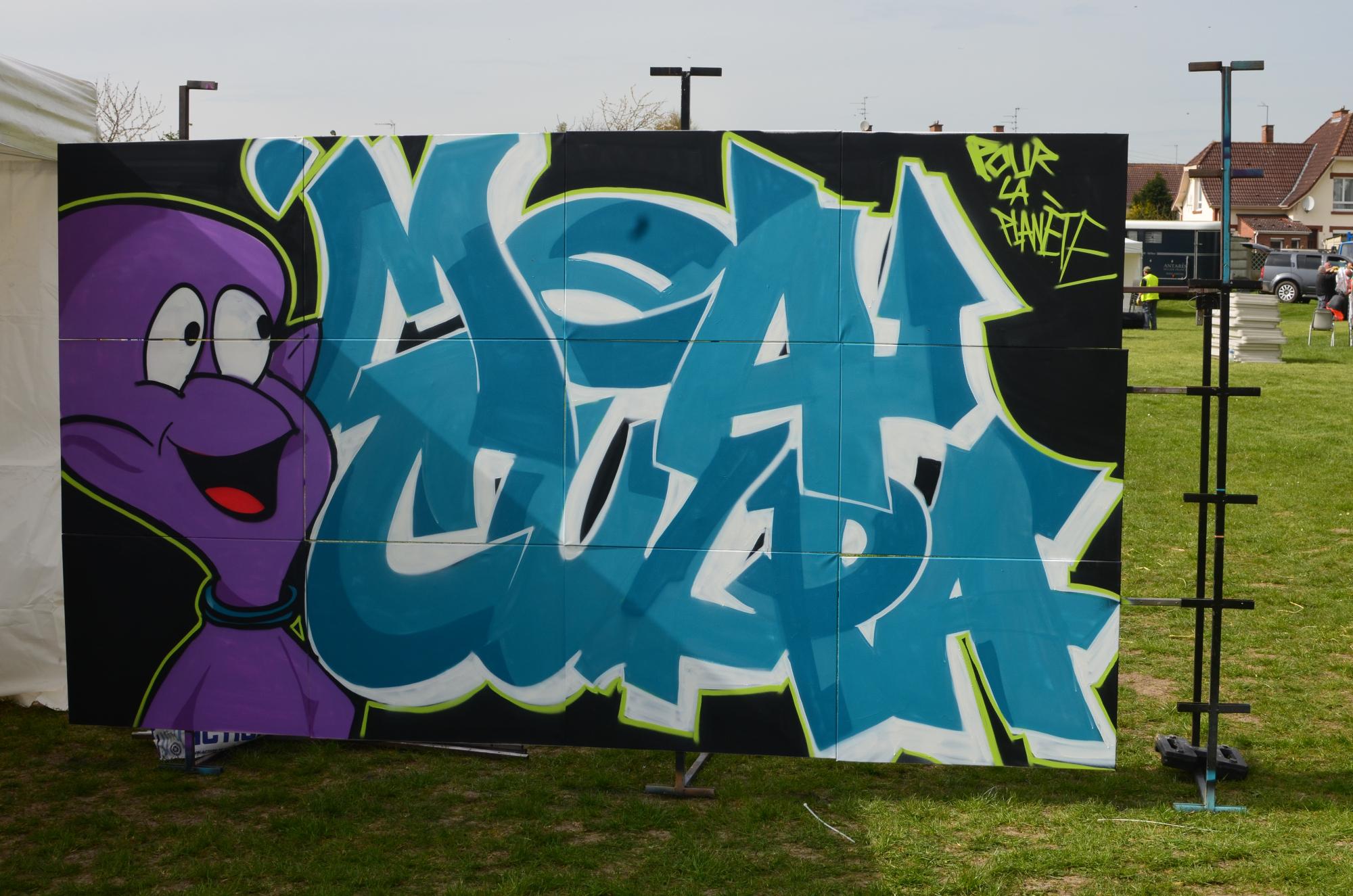 Graffiti sur panneaux