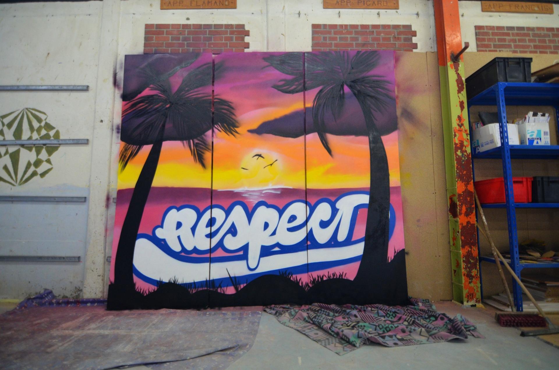 Graffeur dans un collège