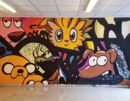 Fresque murale en intérieur hôpital thème enfants