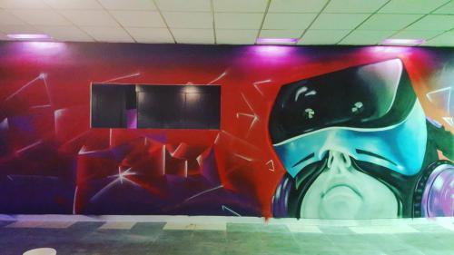 Fresque murale dans une entreprise