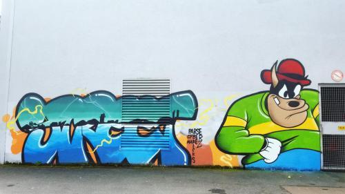 Lettrage street art à Auchel