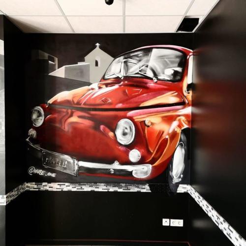 FIAT 500 en graff