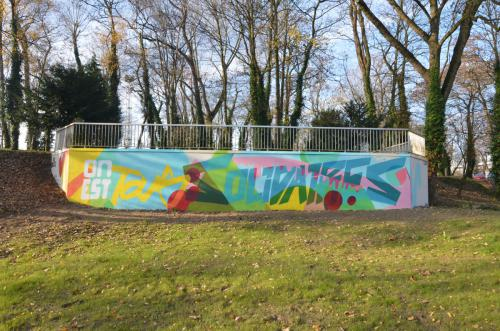 Fresque murale solidaire