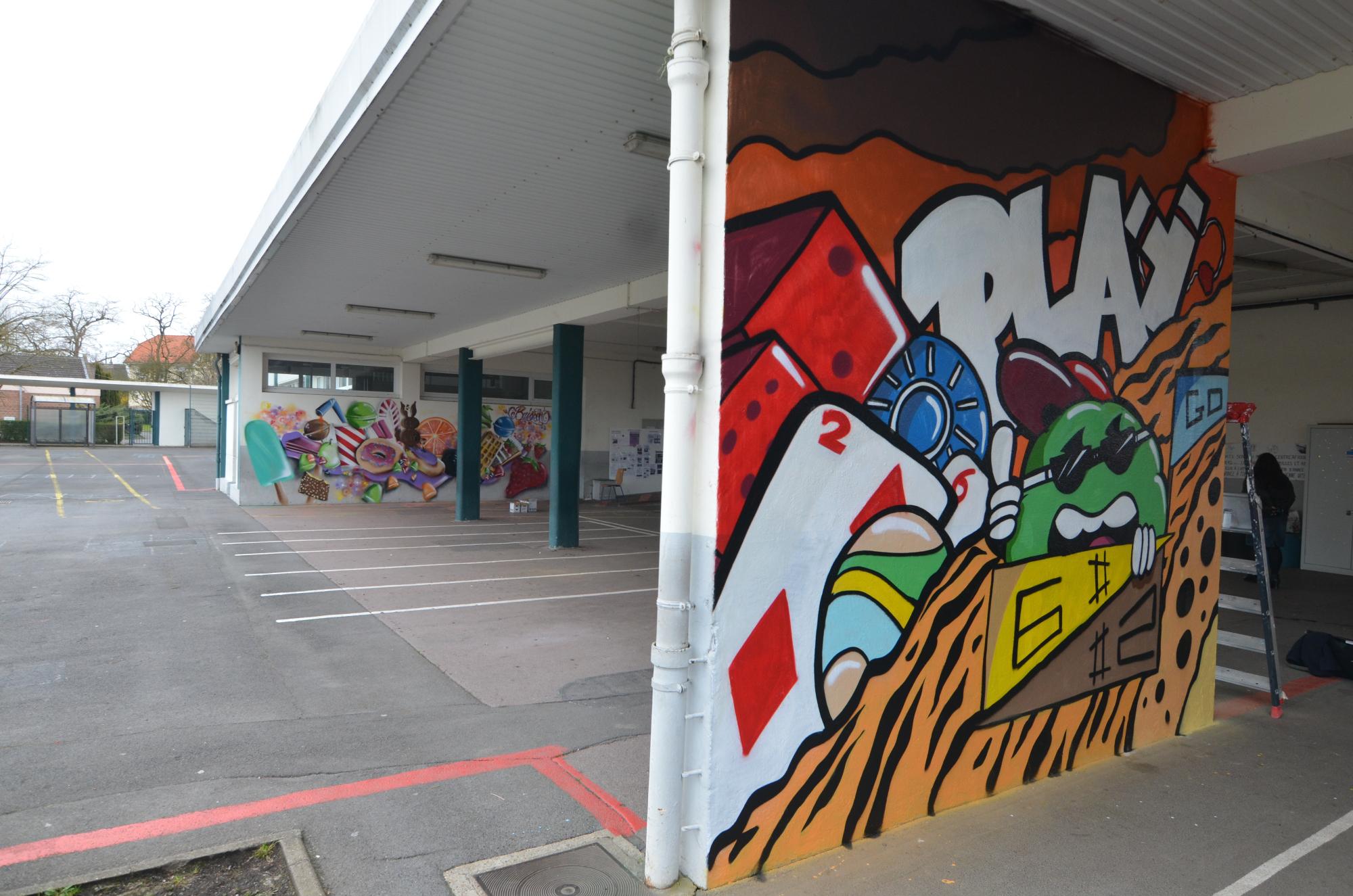 Graffiti à lécole buisson de béthune